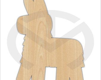 Pinata - 01665- Unfinished Wood Laser Cutout, Wreath Accent, Door Hanger, Ready to Paint & Personalize, Various Sizes