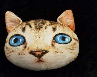 Plush Cat Face Pillow