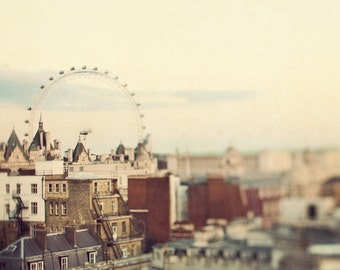 "London Eye, London Photography, London Cityscape, London Art, Travel Photography, 8x8 ""Eye On London"""
