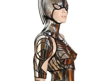 2 piece cyborg cyber robot arm futuristic spartan armour divamp couture