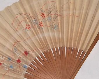 Vintage Chinese Paper Fan, Hand Painted