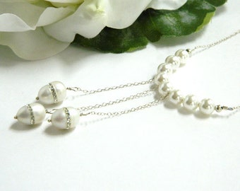 Necklaces for Women Pearl Necklace Short Necklace with Pendant Sterling Silver Wedding Jewelry for a Gift Bridal Necklace Chain Necklace