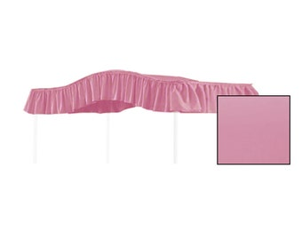 TWIN SIZE Solid Rose Canopy Bed Fabric Top