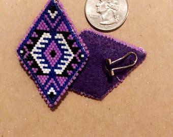 Purple Delica Earrings