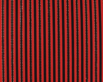 "Gold Stitch Strip Stretch Jersey Knit Print Fabric ""FDYX2J-3610"""