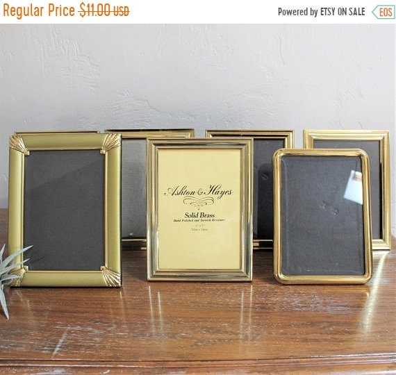 VACATION SALE Vintage Solid Brass Frame, 5x7 Photo Frame, Standing ...