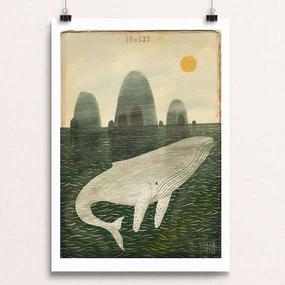 Ghost Whale - Signed Print