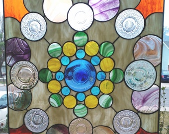 "Stained Glass ""Joyful Chaos"" Pattern PDF B&W Digital Download"