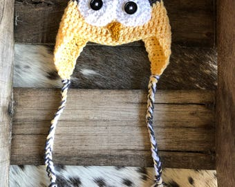 Yellow Owl Hat