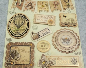 Assorted Cute 3D Best Wishes Stickers