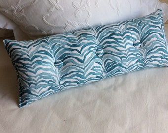 Serengeti Seaside blues 9x25 Bolster/lumbar pillow available in many of our fabrics