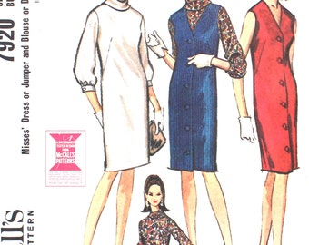 Sleeveless Dress and Blouse or Jumper Bust 31 Size 10