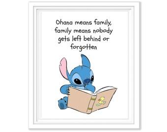 Lilo and Stitch 'Ohana' Printable - 8x10 Digital File