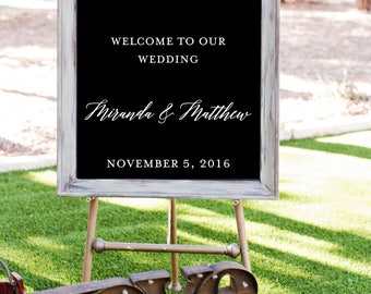 Wedding Welcome Decal, Custom Ceremony Wedding Sign, Welcome To Our Wedding, DECAL/Sticker ONLY, DIY Wedding Craft, Vinyl Wedding Sticker
