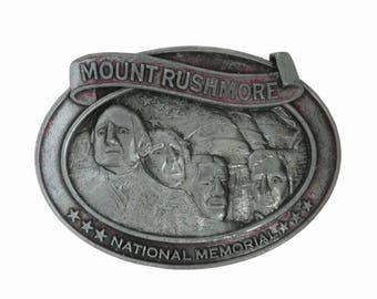 Mount Rushmore Belt Buckle - Vintage Inscribed Buckle, Men's Accessory