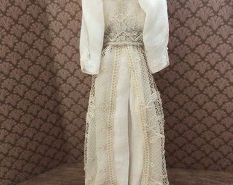 Victorian cream colored lace dress