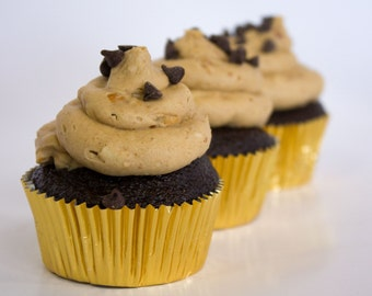 Chocolate Cupcakes with Peanut Butter frosting - LOCAL ONLY
