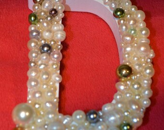 Pearled Decorative Letter, Small
