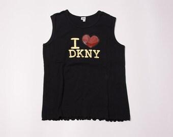 "Vintage ""I Love DKNY"" Donna Karan 90s Tank Top"