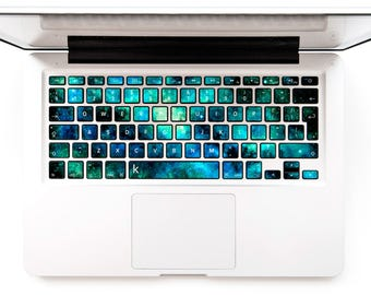 Galaxy Macbook keyboard cover custom made for HP keyboard cover and other brands Macbook Keyboard for Macbook Pro late 2016  #dreaming green