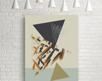 Mid century modern, mid century art, mid century print, abstract wall print, geometric wall art, wall poster, modern wall decor, giclee