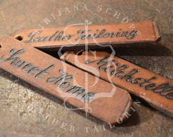 Personalized Keychain Leather Keychain original leather from 20s Transmission Strap Upcycling Unique Customizable