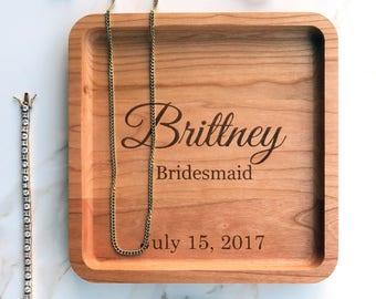 Bridesmaid Jewelry Gift Idea, Jewelry Tray, Will you be my Bridesmaid idea, Unique Bridesmaid Gift, Personalized Bridesmaid gift Jewelry