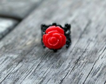 Mediano Red Rose Ring