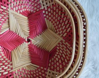 Pattern Hexagon Nesting Baskets • Set of 4