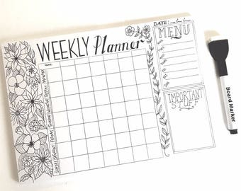 Planner / Weekly Planner / Family Planner / Reusable Planner / Life Planner / 2018 Planner / Magnetic Planner / Household Planner /