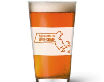 Massachusetts Awesome Pint Glass