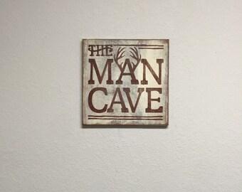 Man Cave Rustic Signs : Man cave sign deer hunting wood