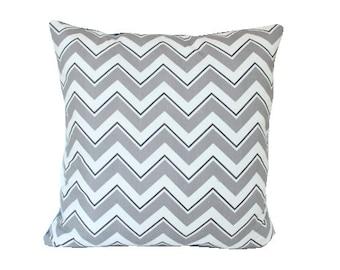 DuraLee Grey Chevrama Chevron Pillow Cover