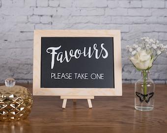 Favours - Wedding Chalkboard