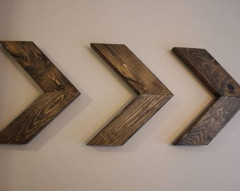 Three wood arrows wall home decor