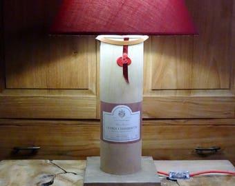 Bottle lamp Gevrey-Chambertin, light bottle, Gevrey-Chambertin, wine bottle