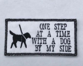 One Step at a Time - Service Dog Patch