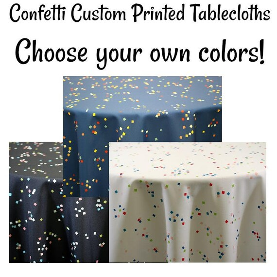 confetti custom printed party design tablecloth printed