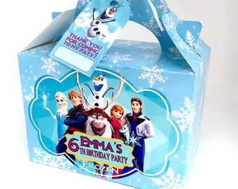 FROZEN Birthday Party Box Personalised x 1