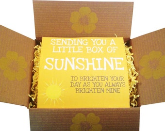 Pampering Gift Set - Get Well Soon Sunshine De-Stress Box, College Care Package, Sorry For Your Loss, Bride To Be, Thinking Of You