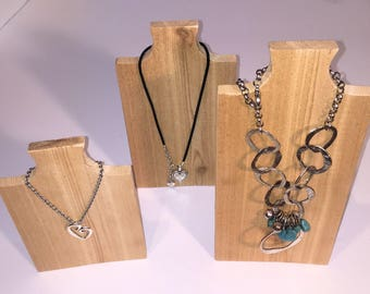 Necklace Stand in Raw Cedar Wood  - Jewelry Display, Necklace Display, Necklace Tree, Jewelry Stand, Necklace Holder, Hanger, Rack, Bust