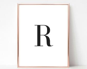 Printable Letter R, Letter R Decor, Letter R, Printable Letters, Printable Letter Art, Letter Wall Decor, Nursery Letters, Letter Art