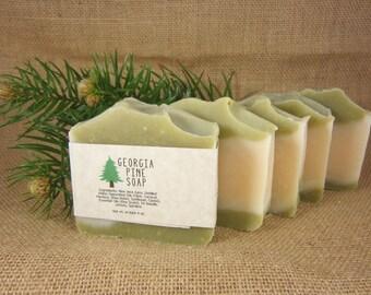Georgia Pine Handmade Soap- Featuring Aloe Vera Organic Spirulina