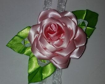Ribbon Rose Baby Headband