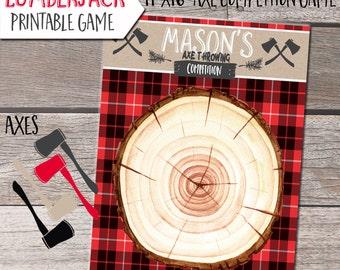 Lumberjack Birthday, Printable Lumberjack birthday,Lumberjack Game, Lumberjack Party, Lumberjack invitation