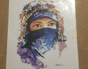 Watercolour painting 'The Nomadic Woman'