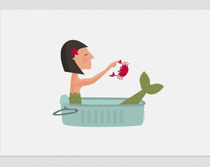 """Ilustración """"Sirena en lata""""."""