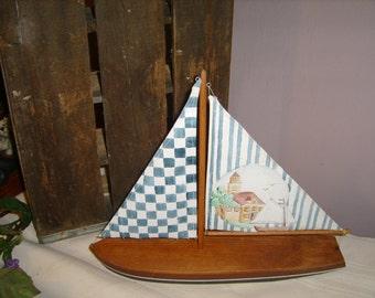 Nautical Country Sail Boat Decor