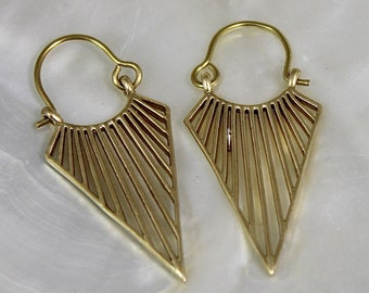 Earrings ethnic chic and classic brass shantilight