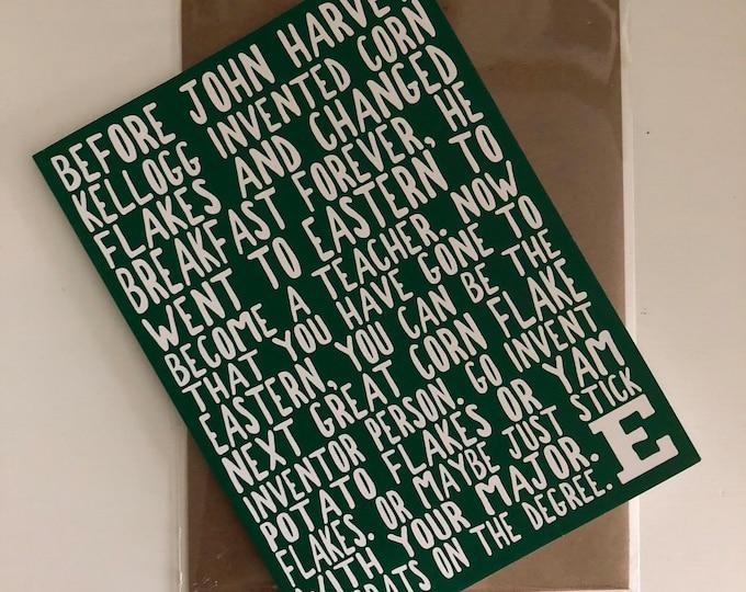 Eastern Michigan University Graduation Card
